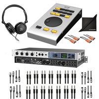 RME Fireface UFX+ Thunderbolt Audio Interface w/ ARC-USB Programmable, AxcessAbles Audio Cables, Stereo Headphones and eStudioStar Polishing Cloth