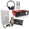 Rode Broadcaster Mic Pk with Focusrite Scarlett Solo Interface FIELD PACK