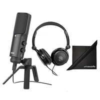 Rode NT-USB Microphone, Headphones, Polishing Cloth