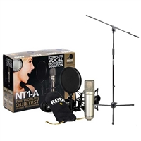 AMZ-FBA Rode NT1-A Cardioid Condenser Microphone Recording Package with a Tripod Base...