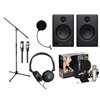 Rode NT1-A Microphone w/Presonus Eris E4.5 Speakers, Headphones, Stand, Filter, Cables