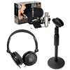 Rode NT1-A Microphone Recording Package w/Sennheiser HD 202-II Headphones and AxessAbles Microphone Desk Stand