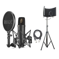 Rode NT1 Kit Condenser Mic w/ AxcessAbles Studio Mic Shield Stand & Audio Cable