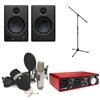Rode NT2-A Microphone with Focusrite Scarlett 2i2 USB, Presonus Eris E4.5 Speaker (Pair) and Mic Stand