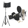 Rode NT2-A Cardioid Condenser Microphone Studio Bundle with Microphone Isolation Shield With Stand