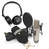 Rode NT2-A Cardioid Condenser Microphone Studio Bundle and Headphone