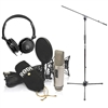 Rode NT2-A Cardioid Condenser Microphone Studio Bundle with Headphone and Mic Stand with Boom