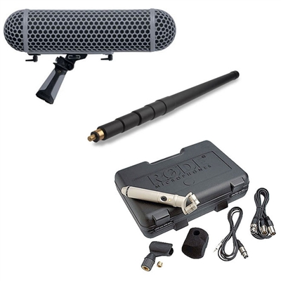 Rode NT4 Stereo Microphone with Rode Boompole and Rode Blimp