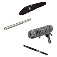 Rode NTG3  Shotgun Microphone w/Rode Blimp Wind Shield, Mini Boompole with Bag