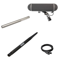 Rode NTG3 Shotgun Microphone with Rode Blimp, Hosa CMK-030AU Microphone Cable and Rode Boompole