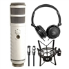 Rode Podcaster USB Dynamic Microphone w/ Shock Mount, AxcessAbles Stereo Headphones and Audio Cable