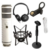 Rode Podcaster USB Dynamic Mic w/ Rode PSM1 Shock Mount, AxcessAbles Desk Stand & Headphones