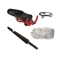 Rode VideoMic Microphone with Rode Micro Boompole, Rode Deadcat Wind Muff and Rode VC1 3.5mm Extension Cable