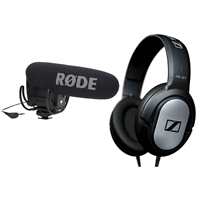 Rode VideoMic Pro R Condenser Microphone with Headphones