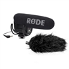 Rode VideoMic Pro Compact Shotgun Microphone, 200 Ohms - Bundle - with Rode Deadcat VMP Furry Wind Cover for VideoMicPro