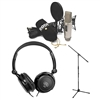 Rode NT2-A Microphone Recording Package w/ AxcessAbles Stereo Headphones and Microphone Stand
