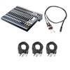 Soundcraft EFX12 12-Channel Audio Mixer with 6 XLR Cables and 1 TRS Cable