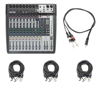 Soundcraft Signature 12 MTK Multi-Track Compact Analogue Mixer with AxcessAbles Cables