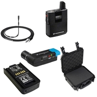 Sennheiser AVX Camera-Mountable Lavalier Pro Digital Wireless Set (MKE2 Lavalier) Bundle with SKB Waterproof Case and BA20 Recharging Battery Pack