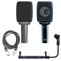 Sennheiser E906 Dynamic Cardioid Instrument Microphone Package - Audix Cab Grabber and Cable