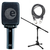 Sennheiser E906 Amp/Drum Microphone Bundle with Amp Mic Stand and Cable