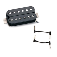 Seymour Duncan 11101-01-B SH-1B '59 Model 1-Conductor Pickup - Black Neck with 2 Patch Cables