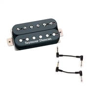 Seymour Duncan 11102-01-B SH-2 Jazz Model Humbucker Pickup - Black Neck with 2 Patch Cables