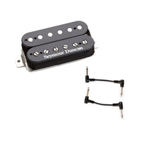Seymour Duncan 11102-17-B SH-5 Duncan Custom Humbucker Pickup - Black with 2 Patch Cables