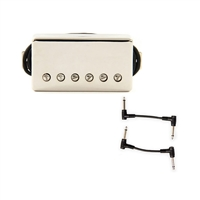 Seymour Duncan 11102-45-NC SH-PG1n Pearly Gates - Nickel Cover with 2 Patch Cables