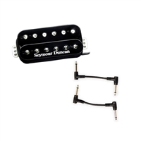 Seymour Duncan 11103-13-B TB-4 JB Trembucker Pickup - Black with 2 Patch Cables