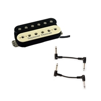 Seymour Duncan 11103-13-Z TB-4 JB Trembucker Pick Up - Zebra with 2 Patch Cables