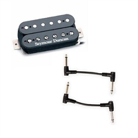 Seymour Duncan 11103-21-B TB-6 Distortion Trembucker Humbucker Pickup - Black with 2 Patch Cables