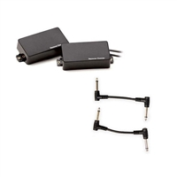 Seymour Duncan 11106-32-B AHB-1S Blackouts Active Humbucker Pickup - Black Set with 2 Patch Cables