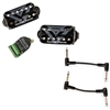 Seymour Duncan 11106-65-B Gus G. FIRE Blackouts System Active Humbucker Pickups - Black with 2 Patch Cables