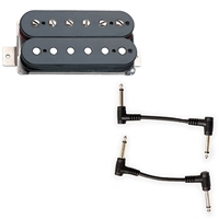 Seymour Duncan 11108-21-B SH-6N & B Distortion Meyhem - Black with 2 Patch Cables