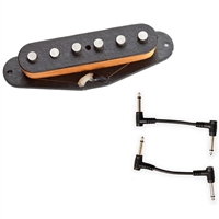 Seymour Duncan 11201-01 SSL-1 Vintage Staggered Pole Strat Pickup with 2 Patch Cables