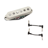 Seymour Duncan 11203-30-OW STK-S10B YJM Fury Stack Bridge - Off White with 2 Patch Cables