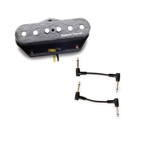 Seymour Duncan 11204-31 APTL-3DJ Jerry Donahue Tele Bridge Pickup with 2 Patch Cables