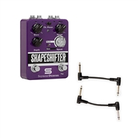 Seymour Duncan 11900-005 Shape Shifter Stereo Tremolo Pedal with 2 Patch Cables