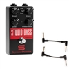 Seymour Duncan 11900-007 Studio Bass Studio Grade Bass Compressor Pedal with 2 Patch Cables