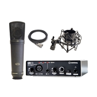 Steinberg UR12 - USB Audio Interface with Shock Mount, Microphone and Cable