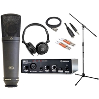 Steinberg UR12 - USB Audio Interface with Microphone, Mic Stand, Headphone and Cables