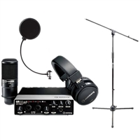 Steinberg UR22 MKII RP Recording Pack with Interface, Cubase, Headphones & Microphone with Pop Filter and Mic Stand