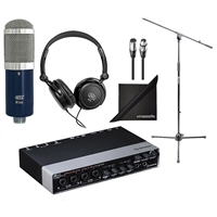 Steinberg UR44 Audio Interface with Headphone, Mic, Mic Stand, Cable and Polishing Cloth