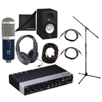 Steinberg UR44 Audio Interface with Headphone, Microphone, Mic Stand, Cables, Speaker and Polishing Cloth