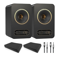 Tannoy GOLD 7 Speakers Pair w/ AxcessAbles Isolation Pads (Pair) and Cables