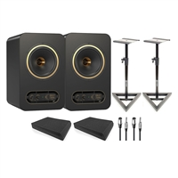 Tannoy GOLD 7 Speakers W/ AxcessAbles Isolation Pads, Studio Monitor Stands and Cables