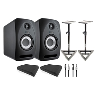 Tannoy Reveal 802 Speakers w/ AxcessAbles Isolation Pads, Studio Monitor Stands and Cables