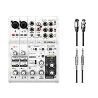 Yamaha AG06 6-Channel Mixer USB Audio Interface w/ AxcessAbles Audio Cables
