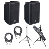 "Yamaha DBR10 10"" 2-Way Powered Loudspeaker with Stands and Cables"